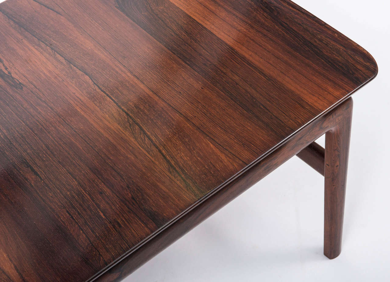 Finn Juhl Rosewood Rectangular Coffee Table, Denmark Circa 1960 3