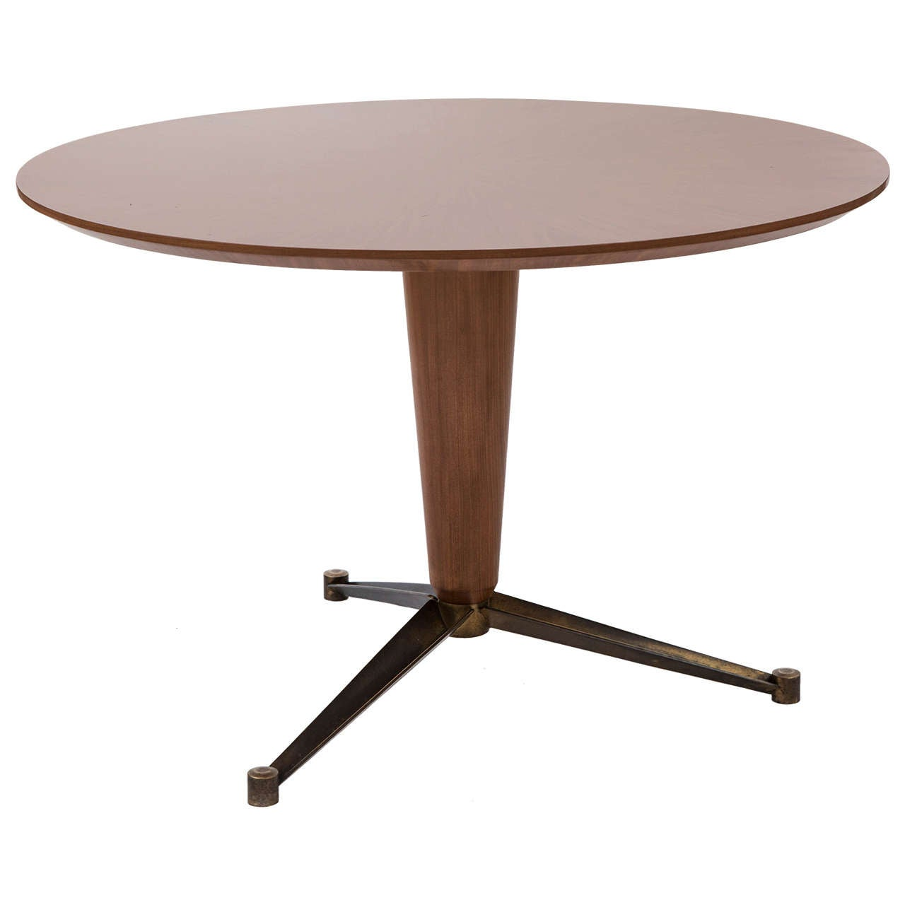 Paolo Buffa attributed mahogany circular centre table, Italy circa 1950
