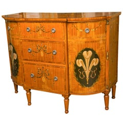 Edwardian Paint Decorated Cabinet
