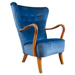 Blue Armchair by Alfred Christiansen