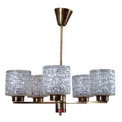 Orrefors Chandelier by Carl Fagerlund