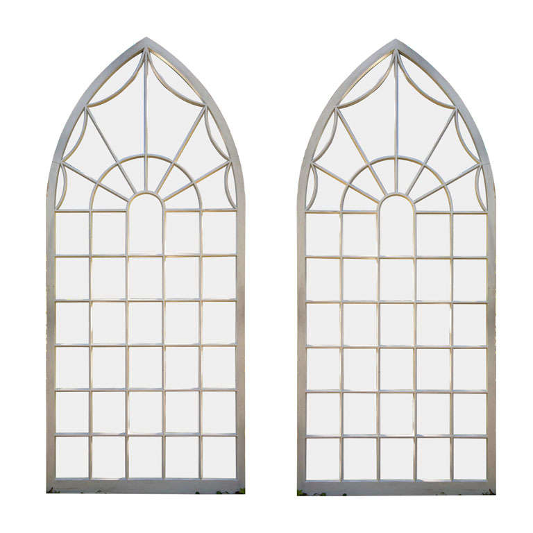 Pair of Gothic-style Arched Windows 1
