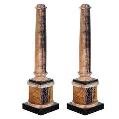 Very Fine Pair of Bluejohn and Marmo Negro Columns, England