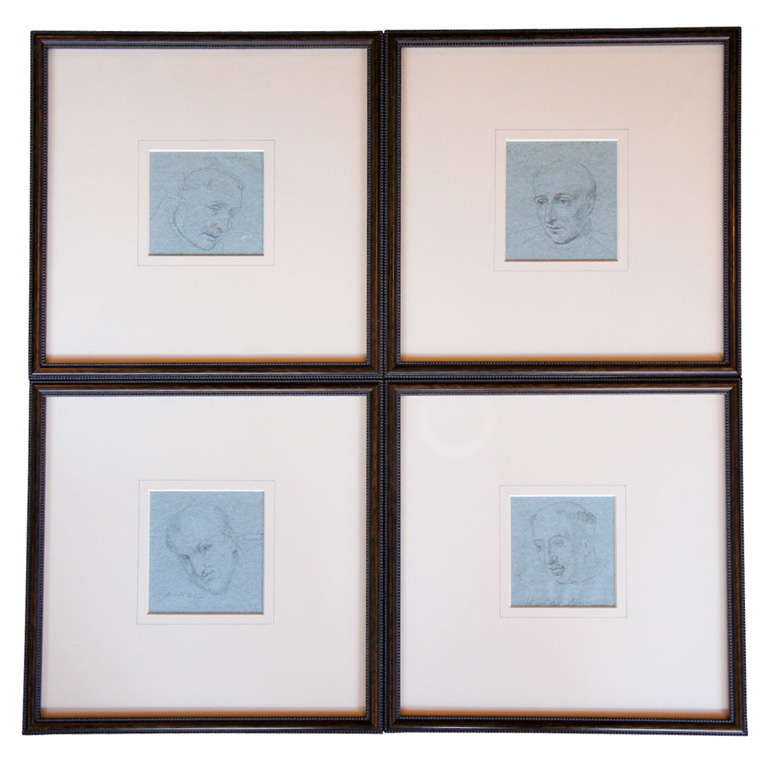 Set of Four Napoleonic Period Drawings For Sale