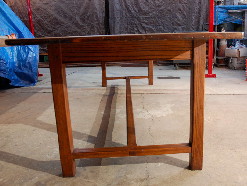 Very Large Oak And Pine Dining Table At 1stdibs