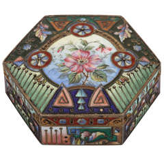 A Fine Russian Cloisonne Enamel Box By The Sixth Masters Artel
