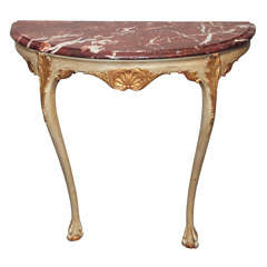 18th Century Italian Painted and Gilded Console