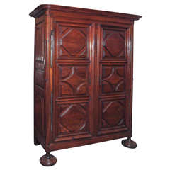 Fine French Louis XIV Walnut Armoire