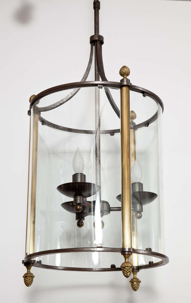 Brass and bronze lantern.