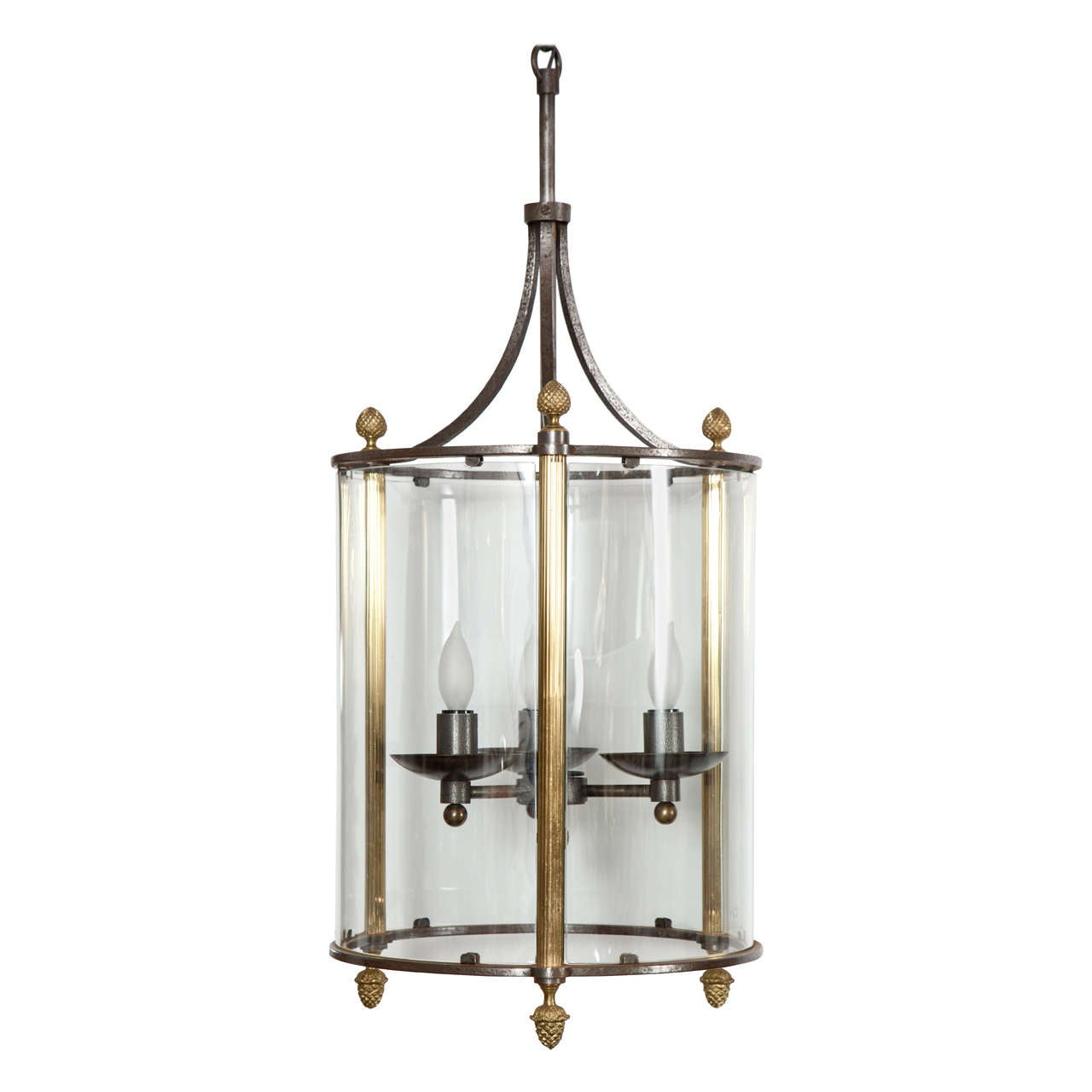 Brass and Bronze Lantern For Sale