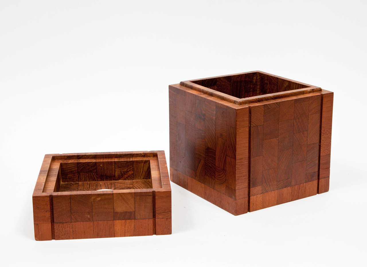 1960s Teak Humidor by Dunhill at 1stdibs