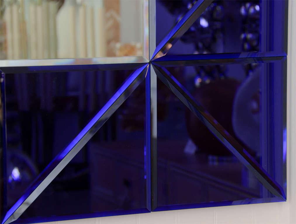 Italian Blue Glass Triangle Surround Bevel Mirror For Sale 6e99b2d8bbf