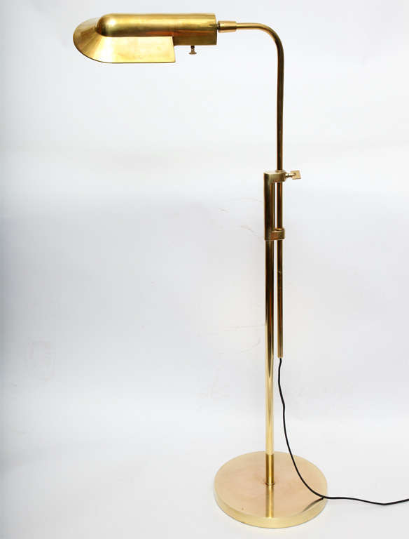 A 1950 39 S American Modern Futurist Brass Reading Lamp At