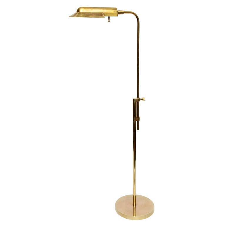 A 1950 S American Modern Futurist Brass Reading Lamp At