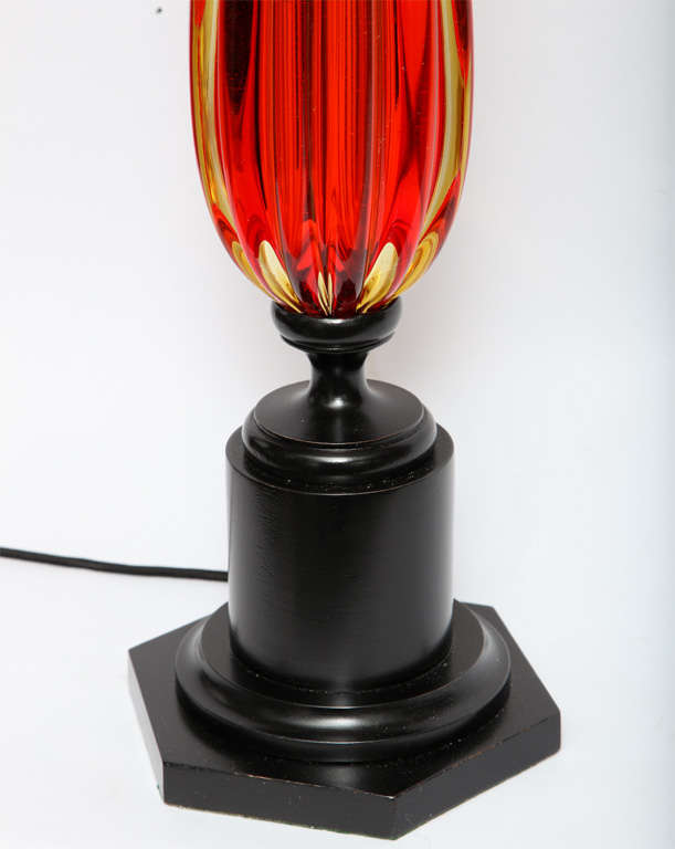1950s Italian Art Glass Table Lamp by Seguso In Excellent Condition For Sale In New York, NY