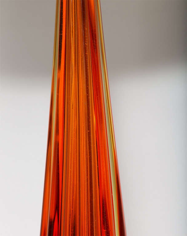 1950s Italian Art Glass Table Lamp by Seguso For Sale 1