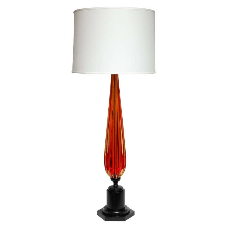 1950s Italian Art Glass Table Lamp by Seguso For Sale