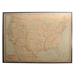 Framed Rand McNally Political Wall Map by J. Paul Goode