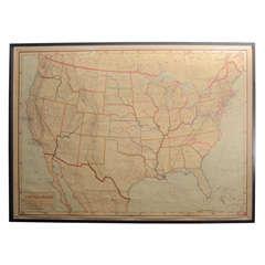 Framed Rand McNally Political Wall Map by J. Paul Goode