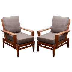 Pair of Lounge Chairs by René Gabriel