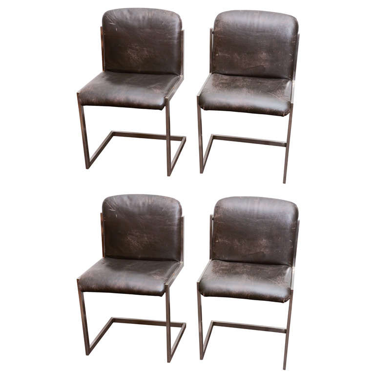 Modernist Steel Chairs For Sale