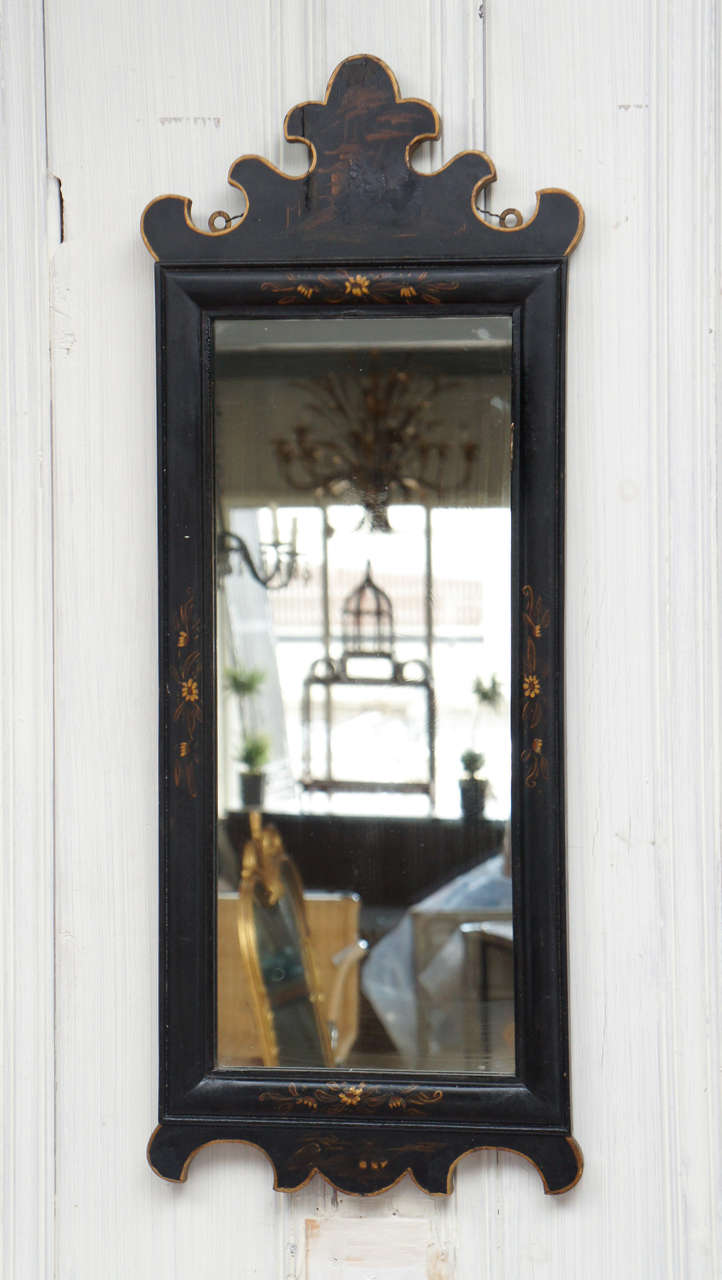 Antique Chinoiserie Painted Mirror At 1stdibs