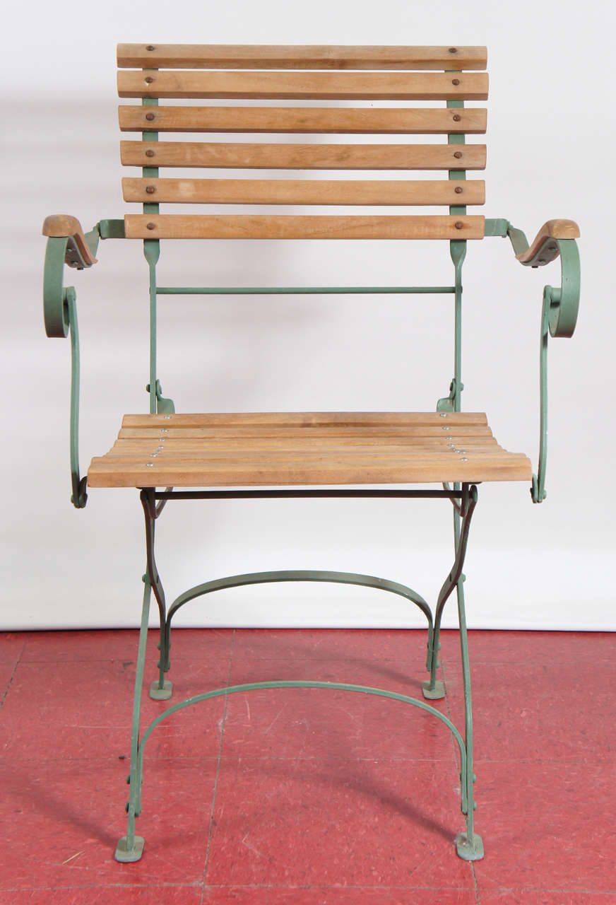 4 French Folding Outdoor Garden Terrace Chairs At 1stdibs