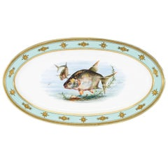 Minton 19th Century Aesthetic Movement Hand-Painted Fish Platter