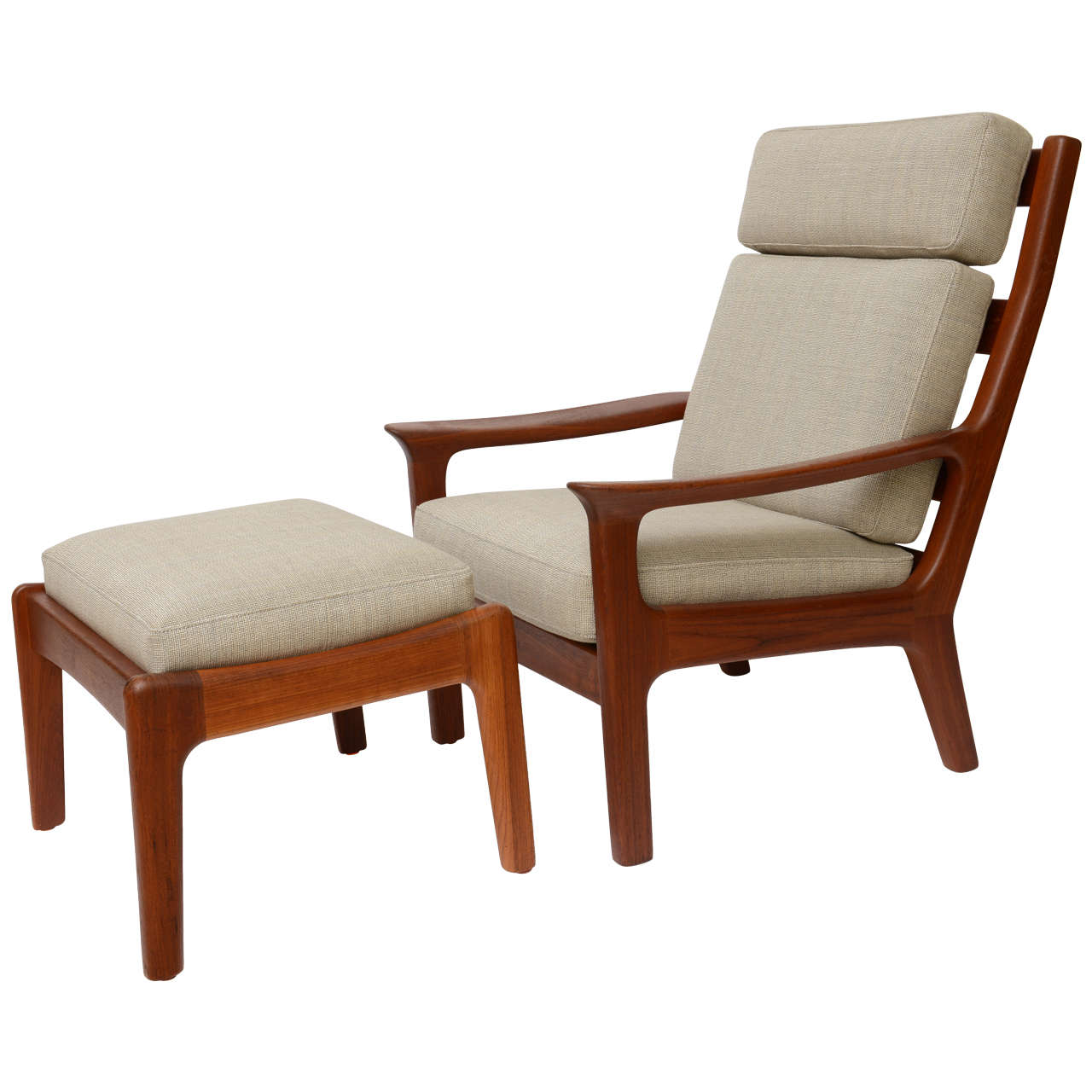 1960s Juul Kristensen Teak Lounge Chair And Ottoman At 1stdibs
