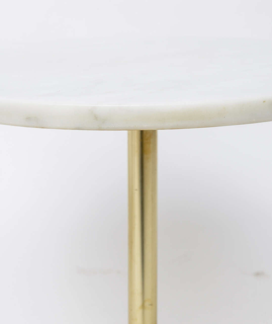 1960s Stellar Italian Marble Top Brass Base Side Tables 4