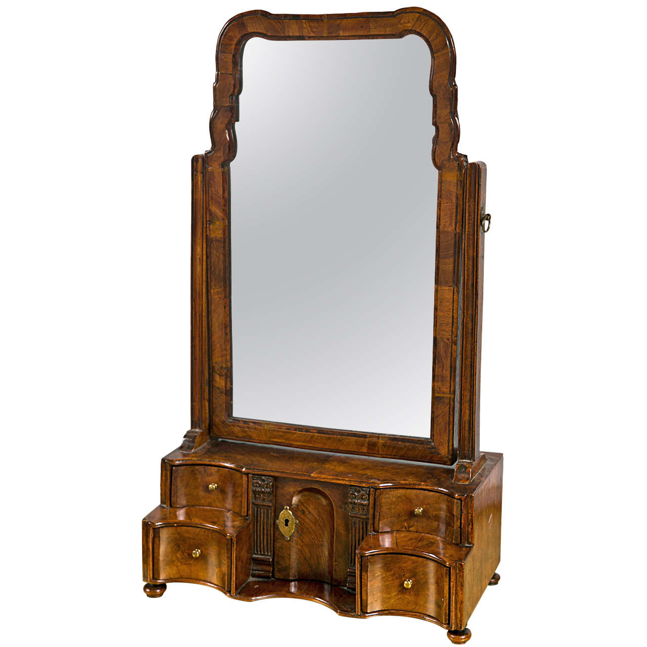 Antique dressing table with mirror - 19th Century English Georgian Style Dressing Table Mirror 1