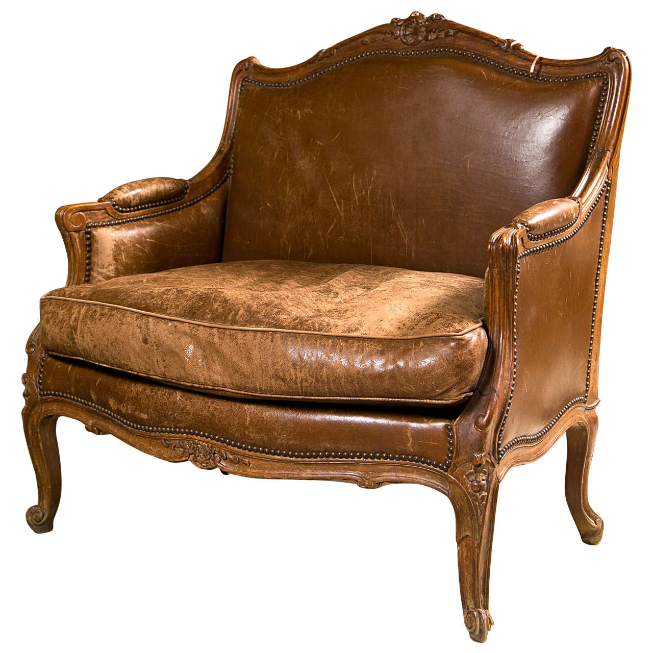 french provincial style bergere chair for sale at 1stdibs. Black Bedroom Furniture Sets. Home Design Ideas