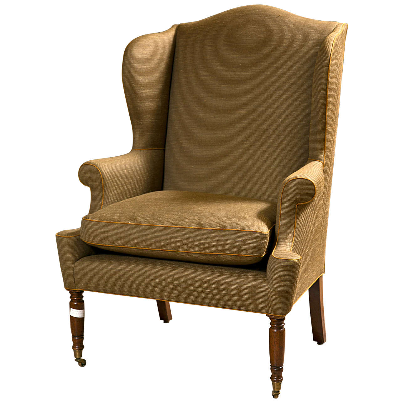 19th century american wingback bergere chair 1