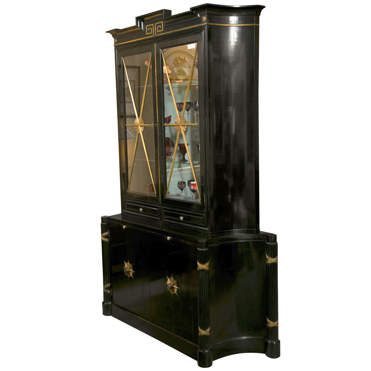 Grosfeld House Hollywood Regency Style Bookcase At 1stdibs