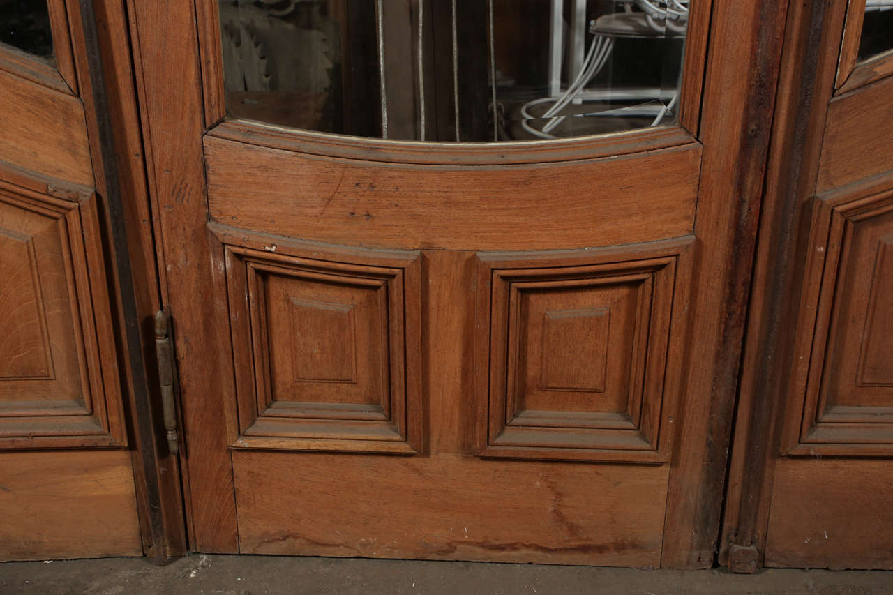 Art Deco Three Door Set With Beveled Glass For Sale At 1stdibs