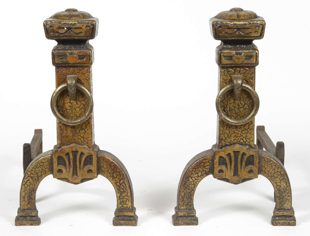 Pair of Cast Iron Fireplace Andirons at 1stdibs