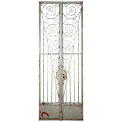Wrought Iron Garden Gate Set