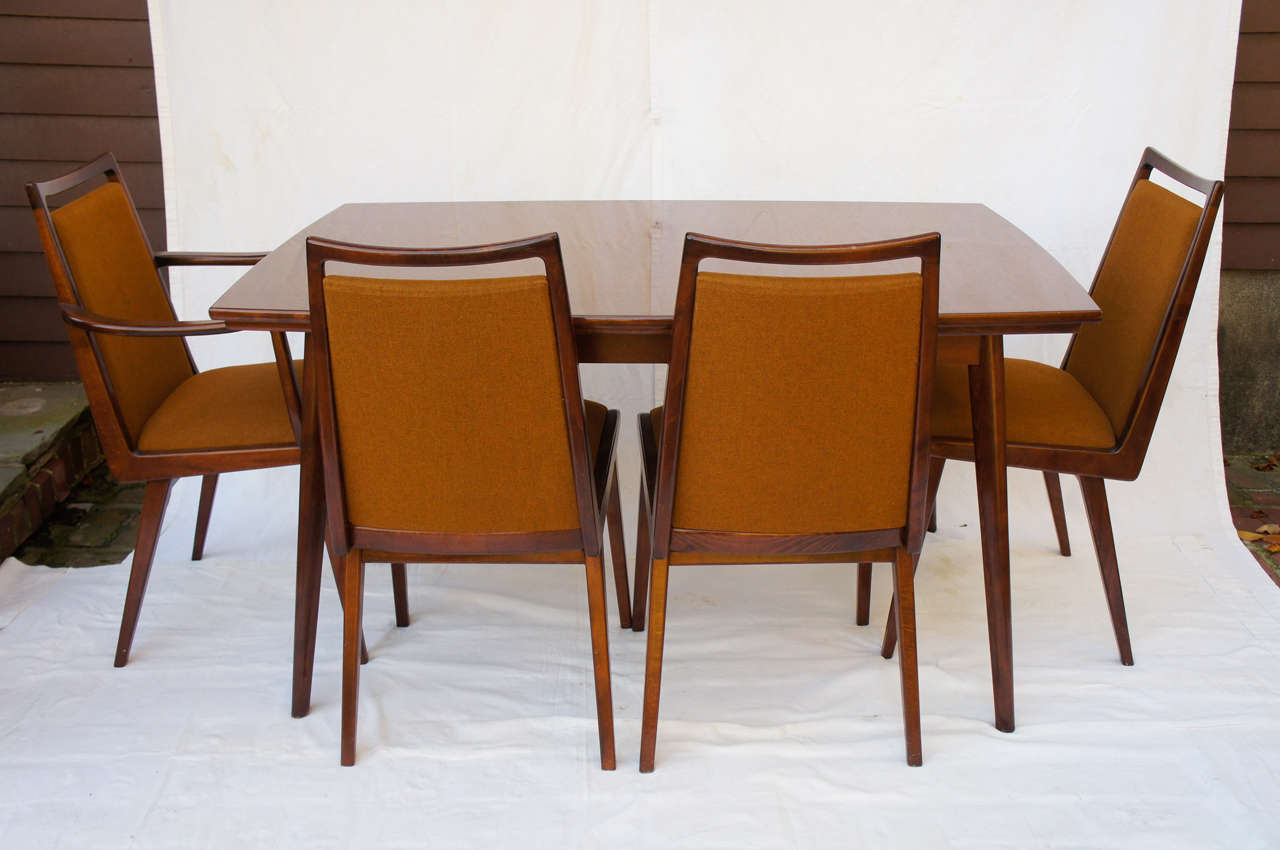 German mid century dining set with 6 chairs by habeo at for Dining room in german