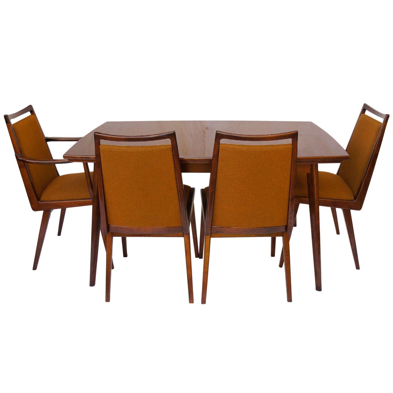 Mid Century Dining Set: German Mid Century Dining Set With 6 Chairs By Habeo At