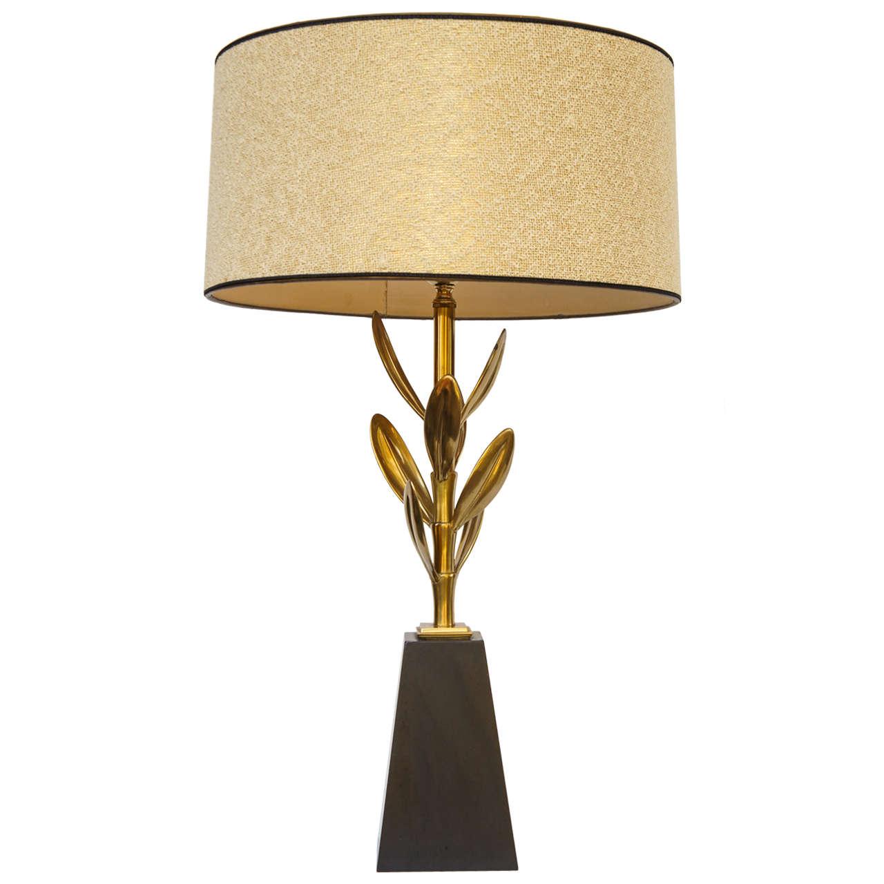 70s mid century modern stiffel brass sedum lamp for sale