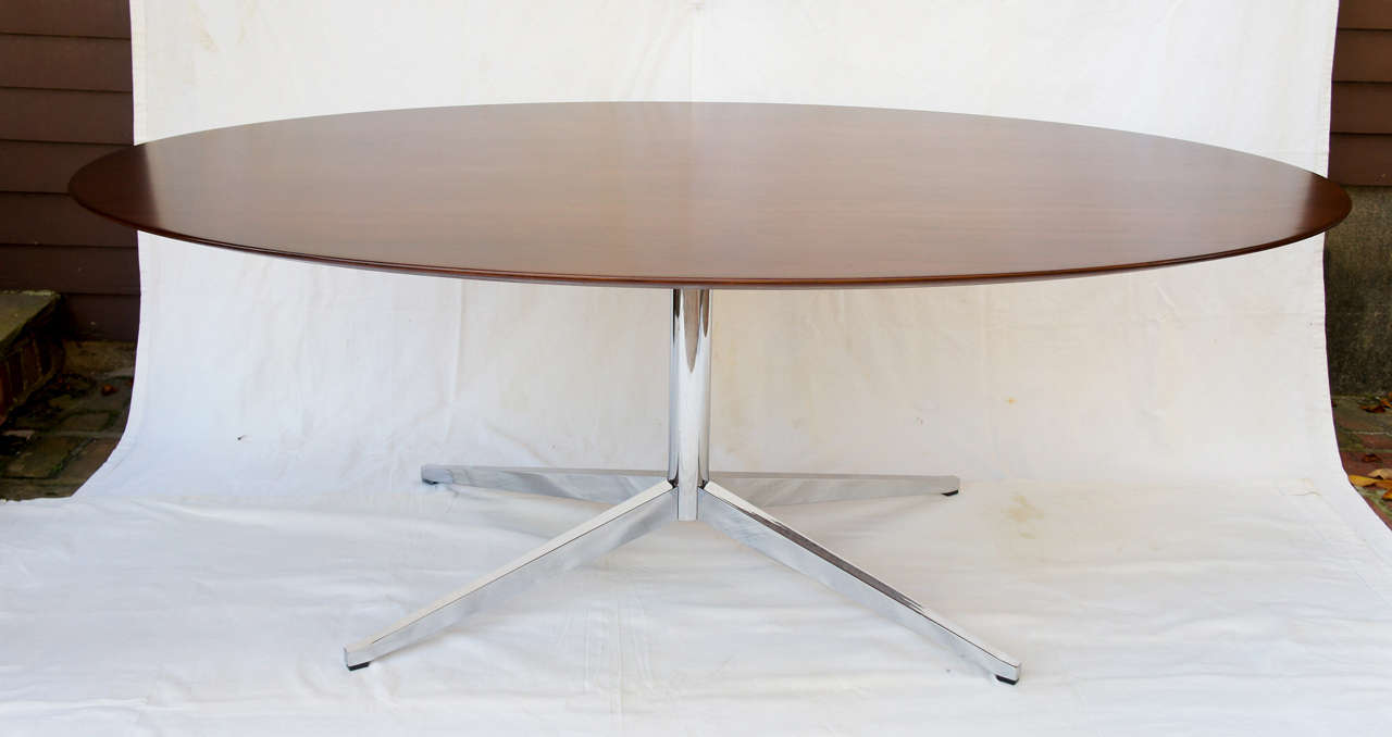 8 foot florence knoll oval dining table desk or for 8ft dining room table
