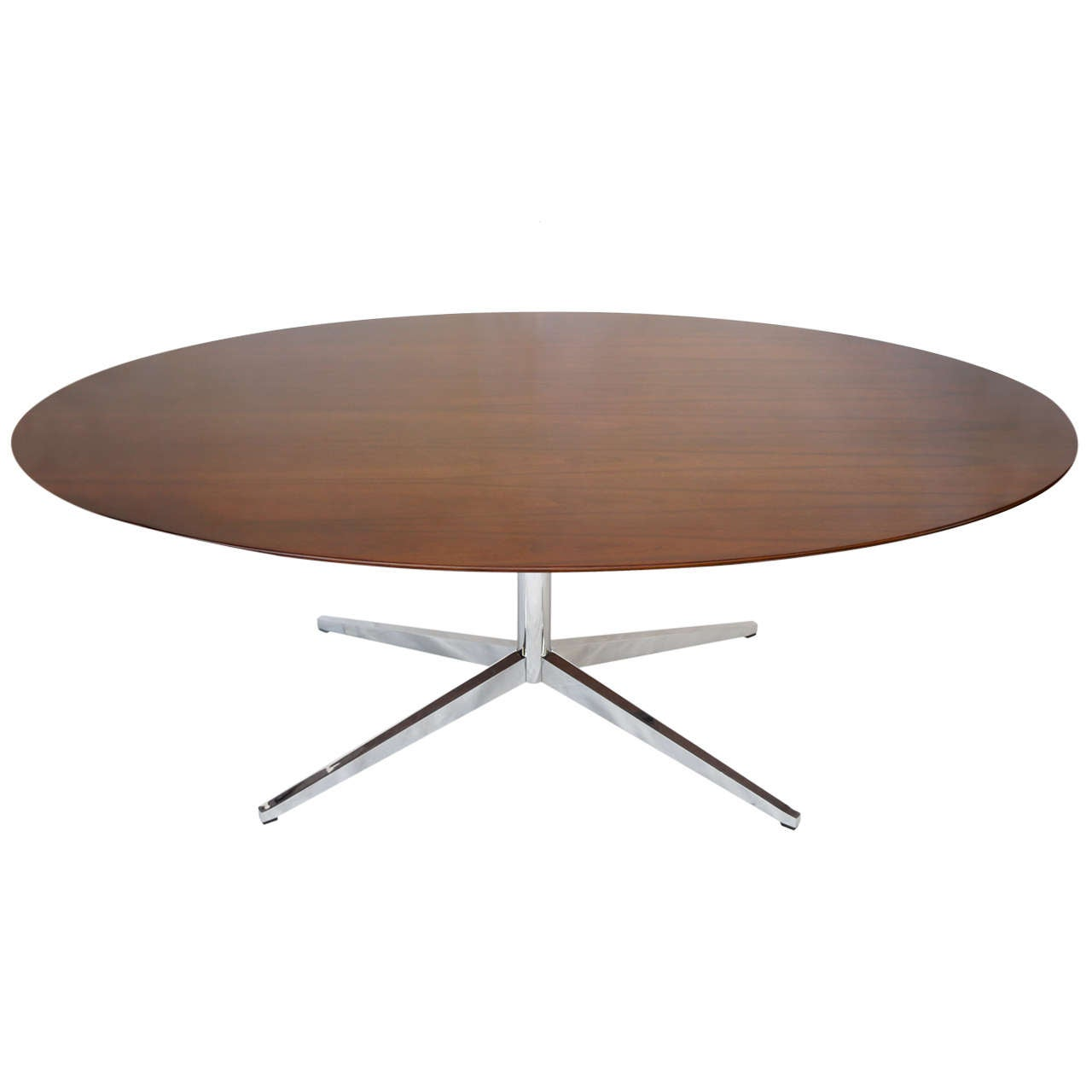 8 foot florence knoll oval dining table desk or conference table in rosewood at 1stdibs. Black Bedroom Furniture Sets. Home Design Ideas