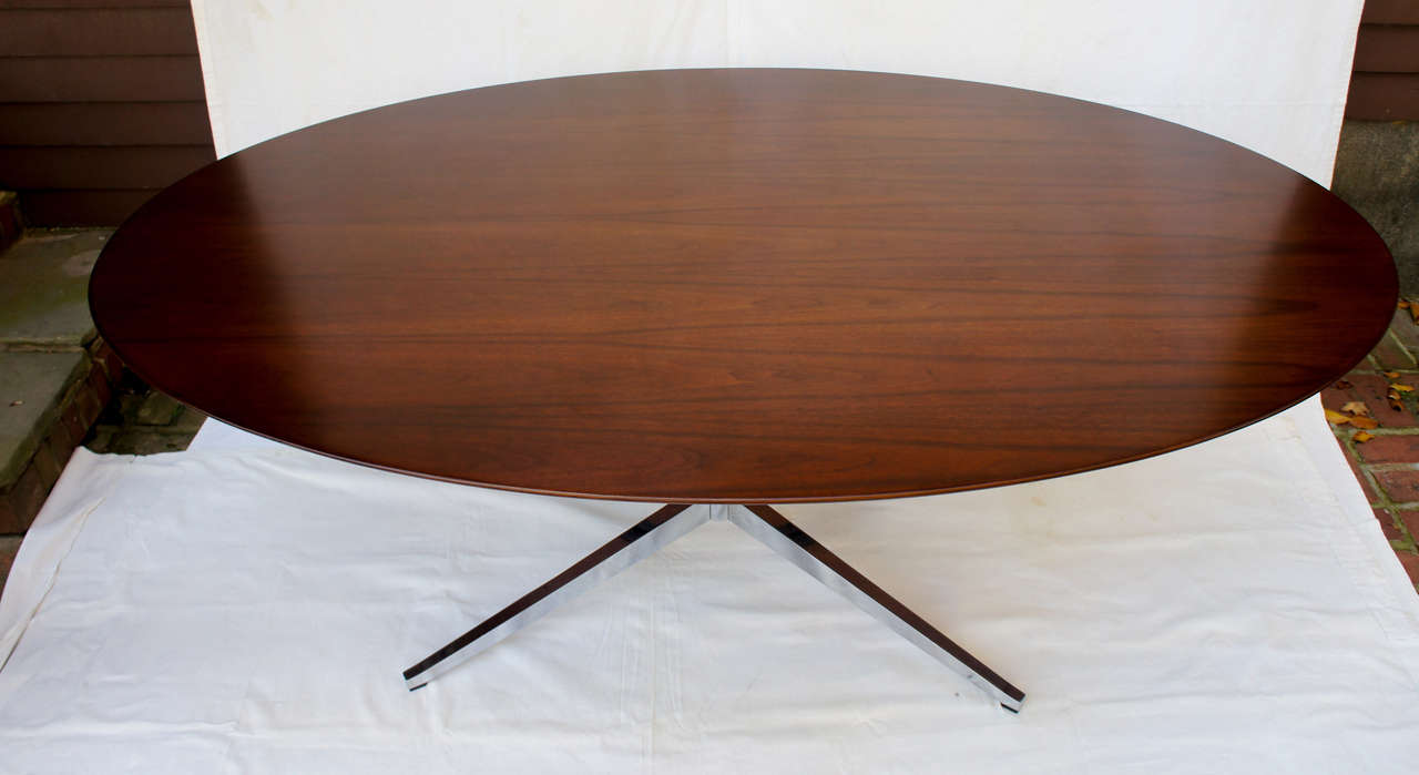8 foot florence knoll oval dining table desk or for 9 foot dining room table