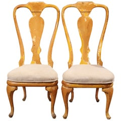 Curvy Painted Wood Side or Dining Chairs