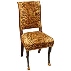 Faux Leopard Chair