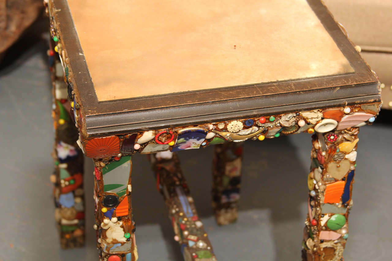 Folk Art Side Table For Sale 2