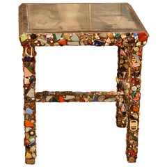 Folk Art Side Table