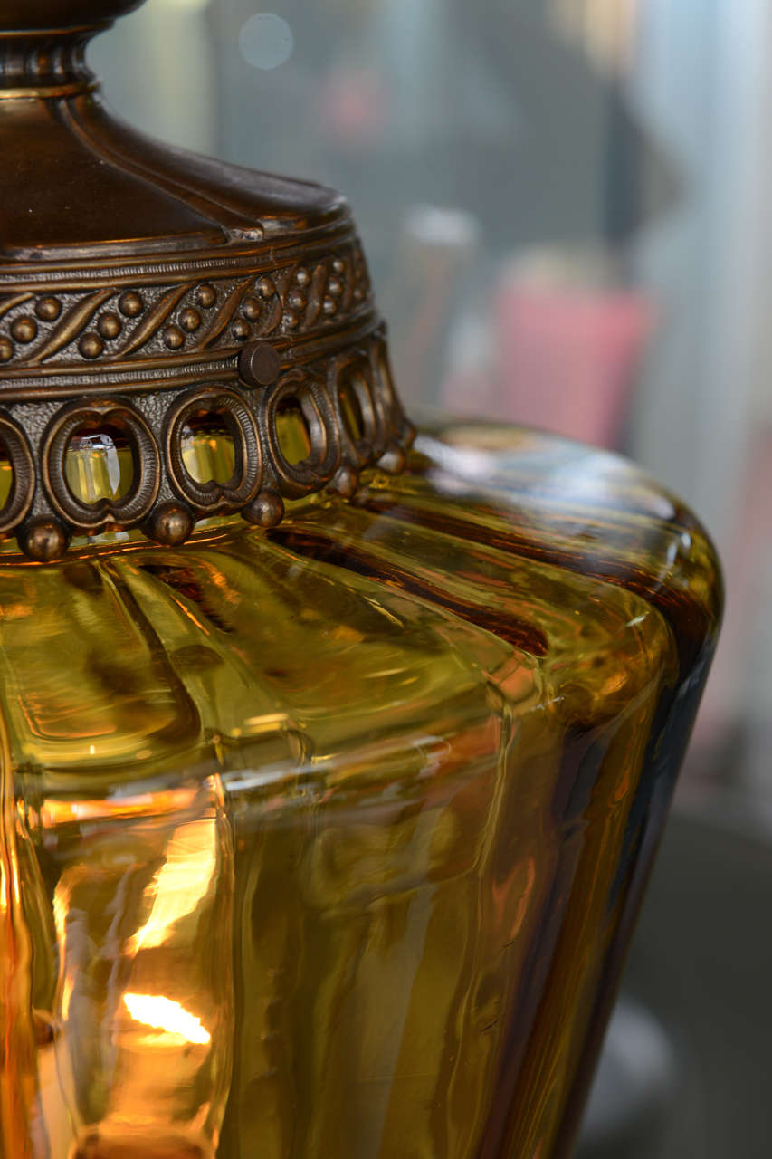 Gigantic Antique Amber Colored Pendant Chandelier 8