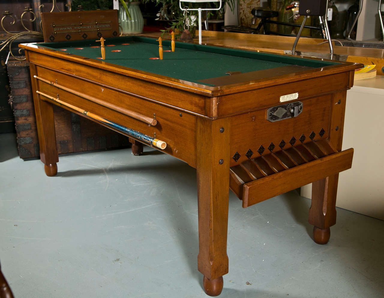 Coin Operated English Billiard Table By Sam Brothers, Hoddesdon , England.  Gill Jelkes Convinced