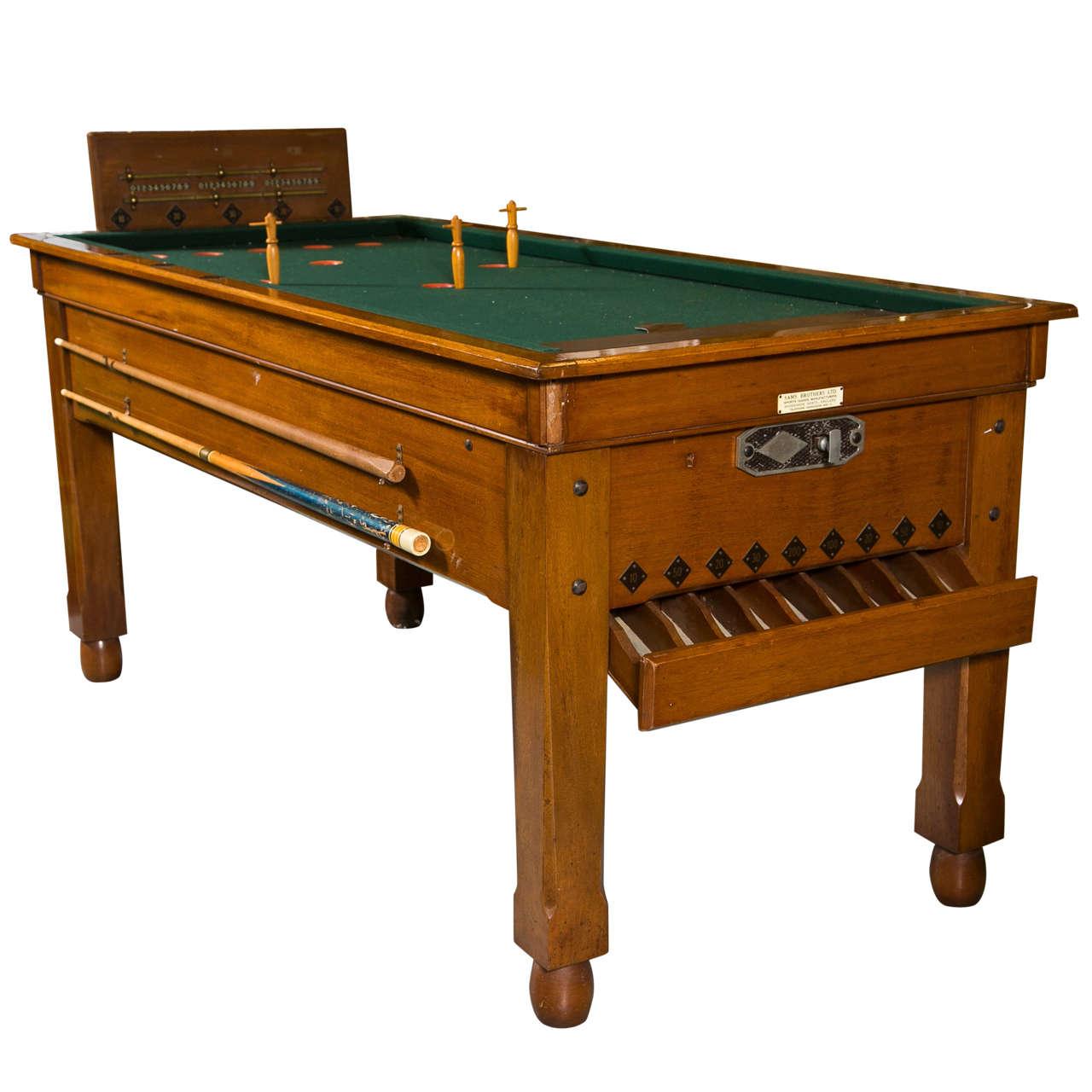Antuqe english bar billiards table at 1stdibs for England table